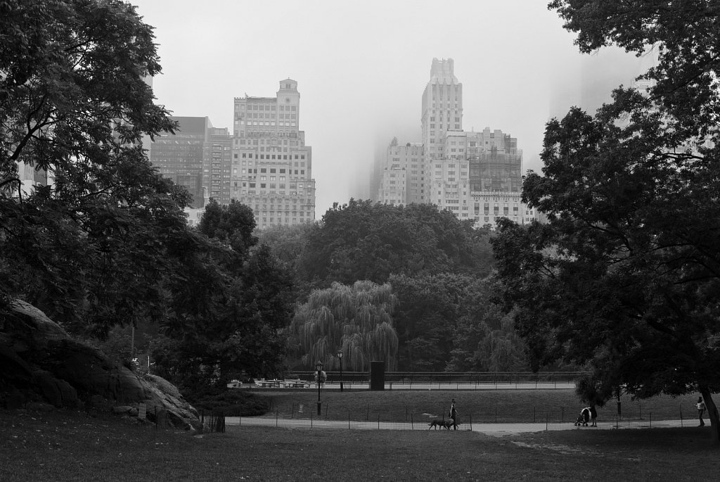 Central Park covered in clouds